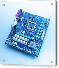 Motherboard Acrylic Print by Science Photo Library