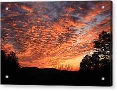 Mount Cheaha Sunset Alabama Acrylic Print by Mountains to the Sea Photo