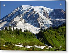 Acrylic Print featuring the photograph Mount Rainier From Paradise by Bob Noble Photography