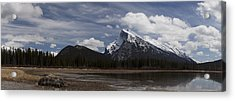 Mount Rundle And Vermilion Lake Acrylic Print
