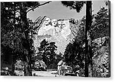 Mount Rushmore In South Dakota Acrylic Print by Underwood Archives
