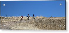 Mountain Bikers Acrylic Print