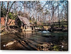 Mountain Brook Mill Acrylic Print by Andy Crawford