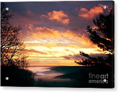Mountain Fog Acrylic Print by HD Connelly