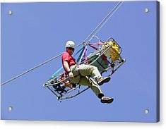 Mountain Rescue Training Acrylic Print by Ashley Cooper