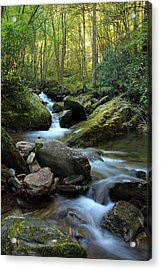 Mountain Stream Acrylic Print by Heavens View Photography