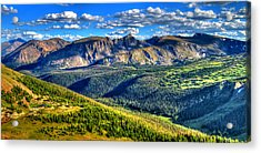 Mountain View Acrylic Print by Scott Mahon