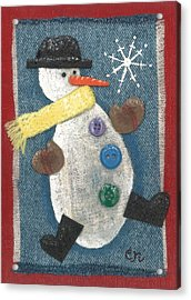 Mr. Snowjangles Acrylic Print
