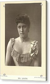Mrs Langtry Acrylic Print by British Library