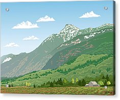 Mt Cheam In Spring Acrylic Print