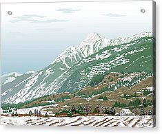 Mt Cheam In Winter Acrylic Print by Artellus Artworks