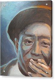 Muddy Waters Blues Guitarist Acrylic Print