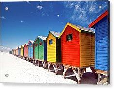 Muizenberg Beach Cape Town Acrylic Print by Ferrantraite