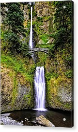 Multnomah Morning Colors Acrylic Print by Nancy Marie Ricketts