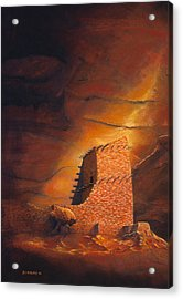 Mummy Cave Ruins Acrylic Print by Jerry McElroy
