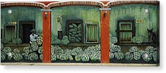 Mural On A Wall, Cancun, Yucatan, Mexico Acrylic Print by Panoramic Images