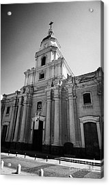 museo historico nacional national history museum chilean Santiago Chile Acrylic Print by Joe Fox