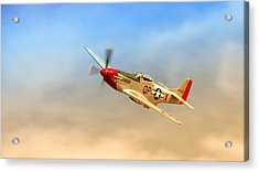 Mustang P51 Acrylic Print by Johan Combrink