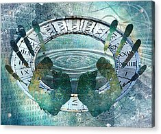 Acrylic Print featuring the digital art My Hands On Time by Helene U Taylor