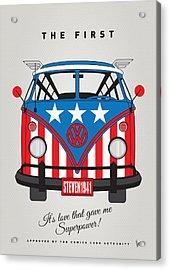 My Superhero-vw-t1-captain America Acrylic Print