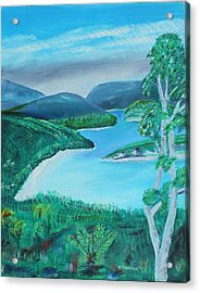 Acrylic Print featuring the painting Mystical Island by Melvin Turner