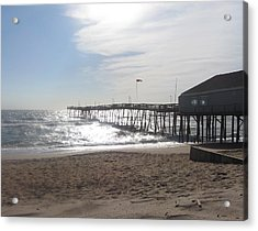 Nags Head Pier 2 Acrylic Print by Cathy Lindsey