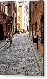 Narrow Stockholm Street Sweden Acrylic Print