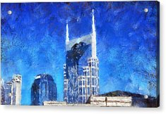 Nashville Skyline Acrylic Print by Dan Sproul