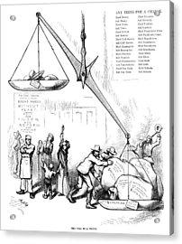 Nast Election, 1876 Acrylic Print