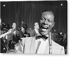 Nat King Cole 1954 Acrylic Print by The Harrington Collection
