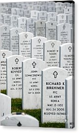 National Cemetery Of The Alleghenies Acrylic Print by Amy Cicconi