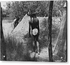 Native American Sweat Lodge Acrylic Print by Underwood Archives Onia