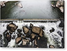 Nature Photograph Of Running Water Steam Acrylic Print by Jorgo Photography - Wall Art Gallery