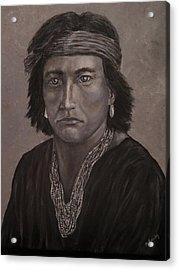 Navajo Boy Native American Acrylic Print