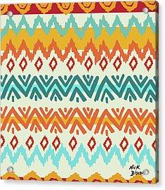Navajo Mission Round Acrylic Print by Nicholas Biscardi