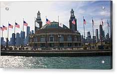 Navy Pier Acrylic Print by Sheryl Thomas
