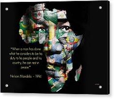 Nelson Mandela Acrylic Print by Lynda Payton