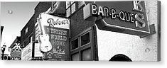 Neon Signs On Building, Nashville Acrylic Print