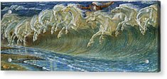 Neptune's Horses Acrylic Print by Walter Crane