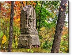New Jersey At Gettysburg - 13th Nj Volunteer Infantry Near Culps Hill Autumn Acrylic Print