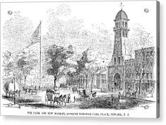 New Jersey Newark, 1855 Acrylic Print by Granger
