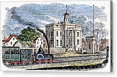 Acrylic Print featuring the painting New Jersey Rahway, 1844 by Granger
