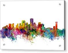 New Orleans Louisiana Skyline Acrylic Print by Michael Tompsett
