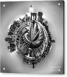 Manhattan World Acrylic Print by Az Jackson