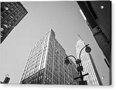 New York City Acrylic Print by Ilker Goksen