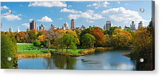 New York City Manhattan Central Park Panorama Acrylic Print