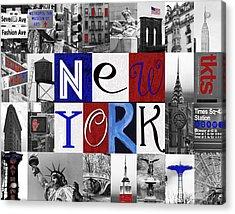 New York Collage II Acrylic Print by Marilu Windvand