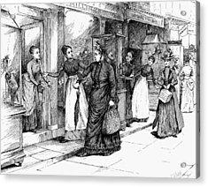 New York Milliner, 1889 Acrylic Print by Granger
