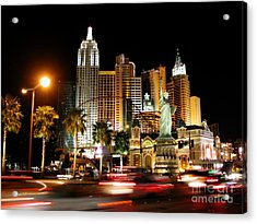 Acrylic Print featuring the photograph New York Minute by Stuart Turnbull