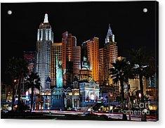 New York New York Hotel And Casino Acrylic Print by Eddie Yerkish
